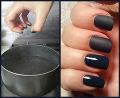 Лайфхак для девушек: Как придать матовость лаку для ногтей 1. Покрасить ногти в нужный цвет. 2. Затем…