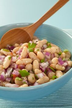 Ensalada de judías blancas: un plato nutritivo y apetecible para el verano The of they are one of the best options for We give you the of white beans. Bean Recipes, Salad Recipes, Diet Recipes, Cooking Recipes, Healthy Recipes, Italian Beans, Bean Salad, White Beans, Soup And Salad