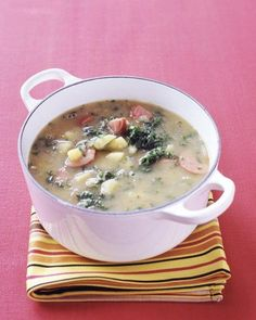 Sausage-and-Kale Soup Recipe. Perfect for fall.