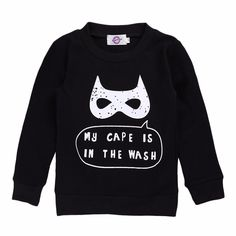 Baby /Baby Boy's Bat Long Sleeve Cotton Tee/Top in Black, 36% discount @ PatPat Mom Baby Shopping App