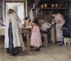 At the kitchen - Vladimir Makovsky, 1913
