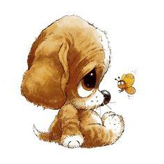 Funny Cute Illustration Sad 70 Ideas For 2019 Cute Animal Drawings, Cute Drawings, Pencil Drawings, Funny Dog Pictures, Cute Pictures, Baby Pictures, Cute Images, Cute Illustration, Dog Art
