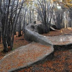 Beached Whale Stranded in Argentinian Forest - an enormous sculpture, consisting of wood, clay, and rocks.