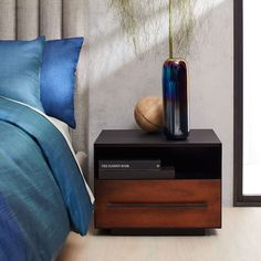 Massaro Metal-Wrapped Nightstand - Copper