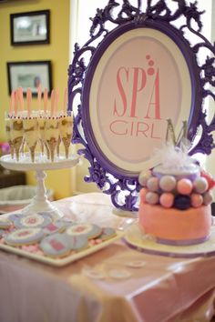 Spa Birthday Party