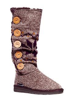 On ideel: MUK LUKS Malena Crotchet Button Up Boot