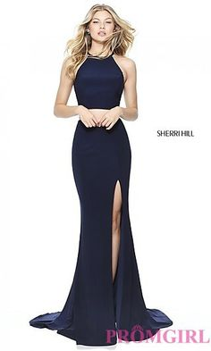 High-Neck Two-Piece Prom Dress by Sherri Hill at PromGirl.com