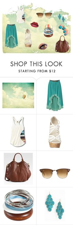 """Clouds"" by mary-5so1ds ❤ liked on Polyvore featuring Red Or Dead, Quiksilver, Nine West, Tory Burch, Ray-Ban, Carole, Color Club and L'Oréal Paris"