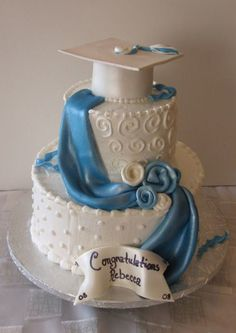 WASC cake with vanilla bc. gp cap and tassel. WASC cake with vanilla bc. gp cap and tassel. First time doing the d College Graduation Cakes, Graduation Desserts, Graduation Cupcakes, Graduation Celebration, Graduation Party Decor, Celebration Cakes, Graduation Ideas, Nursing Graduation, Grad Parties