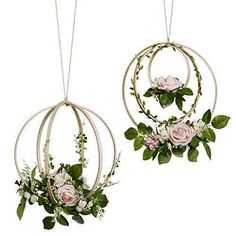 Ling's moment Floral Wreaths Set of 2 Blush Rose Artificial Flower Wreaths for Wedding Backdrop Hanging Decor Wedding Wreaths, Tree Wedding, Wedding Decorations, Wedding Greenery, Wedding Ceremony, Wedding Decor Rentals, Diy Wedding, Wedding Flowers, Greenery Decor