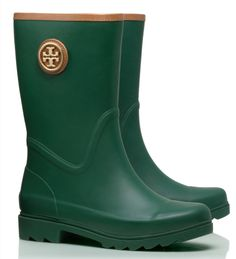 Tory Burch rain boots - get up to 30% off with code: LABORDAY14 http://rstyle.me/n/pguswpdpe