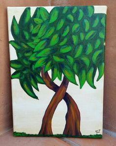 Check out this item in my Etsy shop https://www.etsy.com/listing/471131067/tree-painting-hugging-trees-10x14