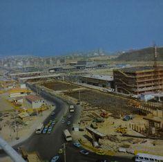 Seoul: New Gangnam Express Bus Terminal under construction, May 1978. 1978년 5월, 강남고속터미널 건설중