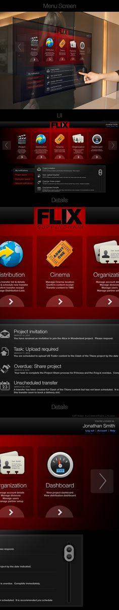 FLIX Touchscreen Interface by Thomas Moeller, via Behance
