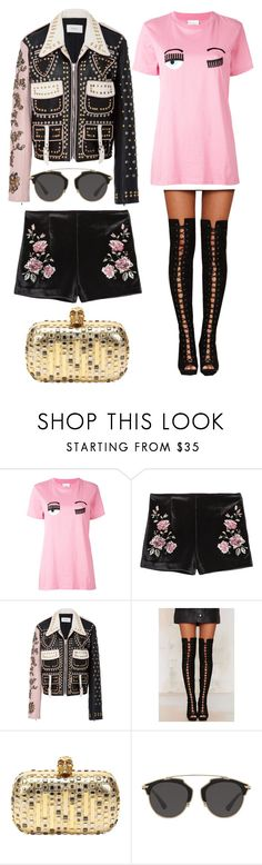 """""""Untitled #1328"""" by filipaloves ❤ liked on Polyvore featuring Chiara Ferragni, Rodarte, Nasty Gal, Alexander McQueen and Christian Dior"""