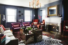 love the mix  Interior from Rue Mag