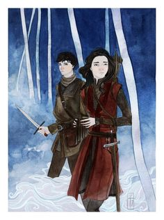 Sameth and Lirael from Garth Nix's Lirael - illustrated by Laura Tolton