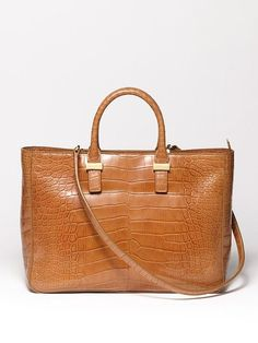 The Row Day Luxe Alligator Tote Caramel