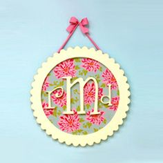New Arrivals Monogram Plaque NA77 (could make this)