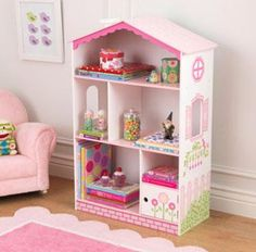 The KidKraft Dollhouse Bookcase provides tons of fun in addition to providing storage for little girls. This cute kids furniture piece makes a great gift for any of the young princesses in your life.