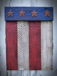 Patriotic Crafts, Patriotic Decorations, July Crafts, Summer Crafts, Holiday Crafts, Christmas Gifts, Rustic Americana Decor, Americana Bedroom, Barn Wood Crafts
