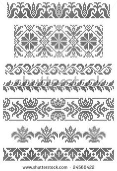 Stock Images similar to ID 29899744 - set of borders embroidery...