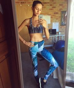 You are simply amazing Isabelle! You look wonderful in our Water print K1 yoga tights. So excited to have you apart of the Kamuka family!