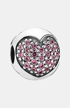 PANDORA 'Love of My Life' Clip Charm available at #Nordstrom in pink