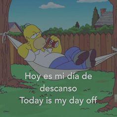 Hoy es mi día de descanso