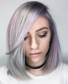 Here Are the Best Hair Colors for Pale Skin Grey Hair For Warm Skin Tones, Hair Pale Skin, Hair Color For Fair Skin, Cool Hair Color, Hair Colors, Silver Lavender Hair, Lilac Hair, Silver Hair, Gray Hair
