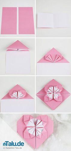 Anleitung - Origami Herz falten - Talu.de