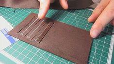 Шьем кошелек: вертикальный карман для карточек.