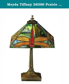 "Meyda Tiffany 28396 Prairie Dragonfly Accent Lamp, 15.5"" Height. Nearly two decades ago, Meyda Tiffany acquired Quality Bent Glass Company which created original lighting fixtures, including the famous Coca-Cola chandeliers, and supplied them to Tiffany Studios in New York City in the early 1900s. We utilize QBG's original tools, molds and techniques to create nostalgic lighting products today. In the mid-1990s, Meyda purchased Mecco Art, a metal art studio, and utilizes its equipment and..."