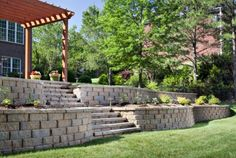 A Belgard Retaining Wall Not Only Looks Beautiful, But Provides A Solution  To Sloping Landscapes