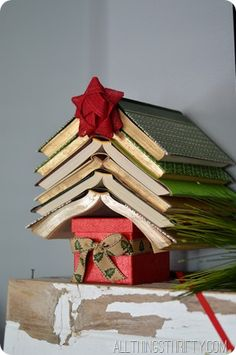 decorating-with-books-for-christmas