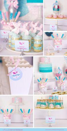 MERMAID Birthday Party Printable Set by SweetScarletDesigns