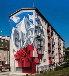 Abstract Shapes and Graffiti-Inspired Swirls Leap off the Wall in New Three-Dimensional Murals by Peeta | Colossal