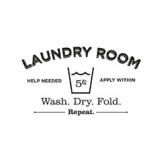 Laundry+Room+Vinyl+Wall+Decal+by+HoneyDropDecals+on+Etsy,+$14.00