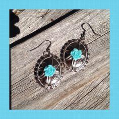 Cowgirl's Earrings by MarlenesCraftHouse on Etsy