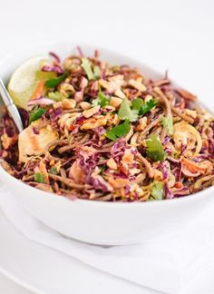 Pin for Later: 31 Asian Noodle Recipes That Are Better Than Takeout Peanut-Sesame Slaw With Soba Noodles Get the recipe: peanut-sesame slaw with soba noodles