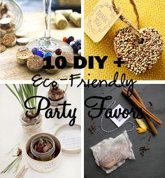 10 DIY + Eco-Friendly Party Favors. #Green #Wedding