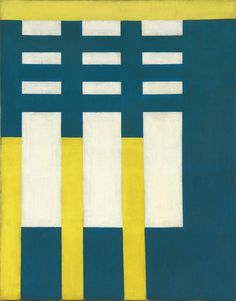 "Charles Biederman, Untitled, Paris, 1937, Oil on canvas, 18 x 14.125"""