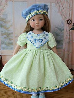 """Dress and Hat for Dianna Effner 13"""" Little Darlings by Farmcookies 