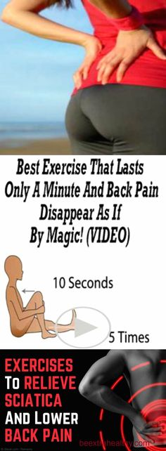 BACK PAIN DISAPPEAR FOR 60 SECONDS: You need to do these 3 simple exercises (VIDEO)