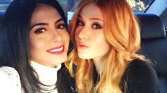 Emeraude Toubia and Katherine McNamara took a selfie together.