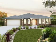 Our Orlando 30 is a single storey home with 4 bedrooms, 2 baths and more (view floor plan). Visit our display home or call us on 1300 100 922 today. Modern Floor Plans, Modern House Plans, Single Storey House Plans, Bungalow House Design, Storey Homes, Display Homes, Facade House, Open Plan Kitchen, Home Theater