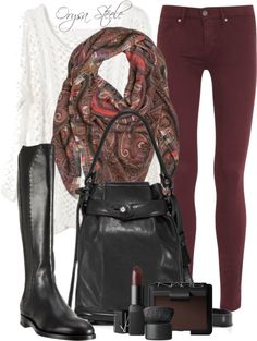 """Burgundy Palette"" by orysa ❤ liked on Polyvore"
