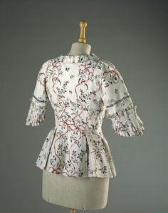 Printed Indian Cotton Jacket, ca. 1780