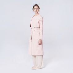 Elementy Wave Trench Pale Pink Pale Pink, Trench, Duster Coat, Waves, Cotton, Jackets, Fashion, Moda, Fasion