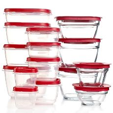 Rubbermaid 30 Piece Plastic and Glass Container Set with Lids only $9.99